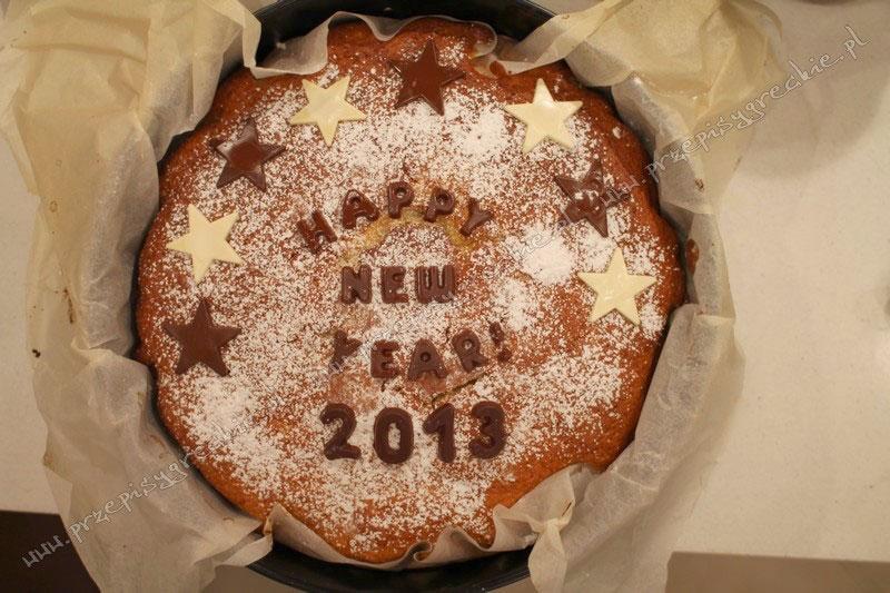 Ciasto św. Bazylego przygotowywane na Sylwestra w Grecji.