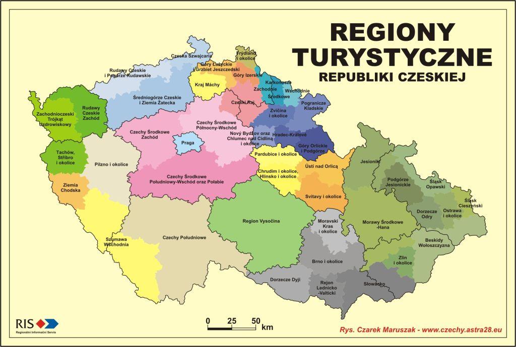 Regiony turystyczne Czech