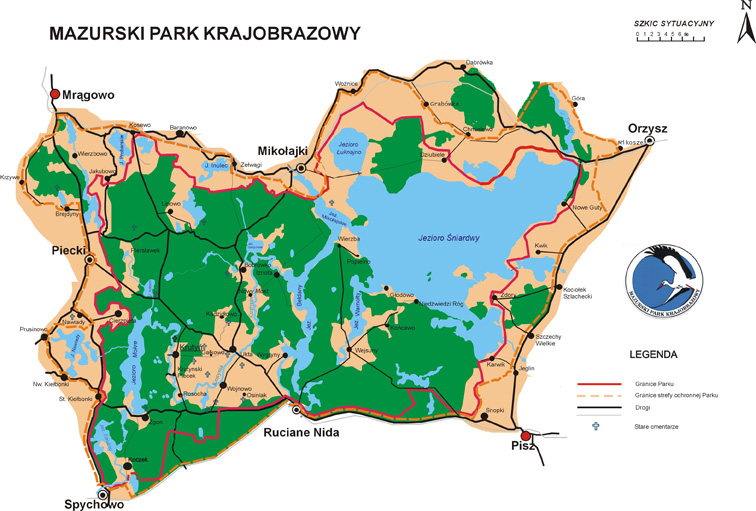 co warto zwiedzić na mazurach - mazurski park krajobrazowy