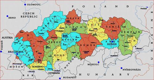 Słowacja na mapie